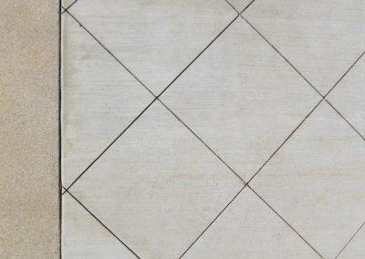 Scored concrete