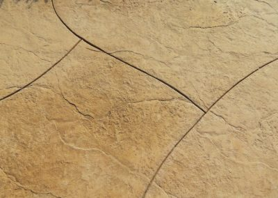 stamped curve concrete